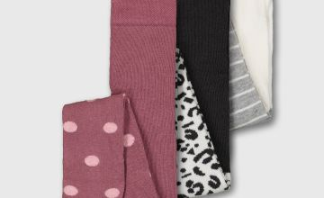 Spot, Animal Print & Stripe Tights 3 Pack