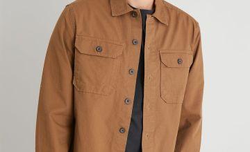Brown Ripstop Long Sleeve Overshirt