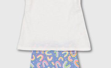 Rainbow Vest & Jersey Shorts