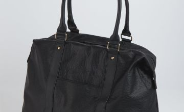 Black Washed Weekender Bag - One Size