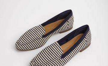 Sole Comfort Navy Stripe Loafer