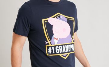 Peppa Pig 'Grandpa' Navy Shortie Pyjamas