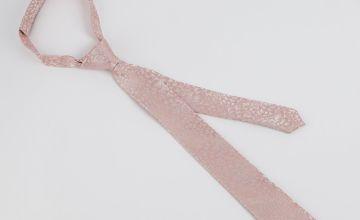 Mini Me Pink Floral Print Kids Tie