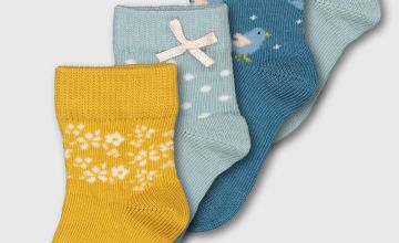Bird, Spot & Floral Socks 4 Pack
