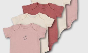 Pink Animal Design Bodysuit 5 Pack