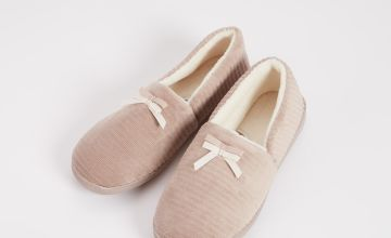 Taupe Ripped Full Slippers With Arch Support
