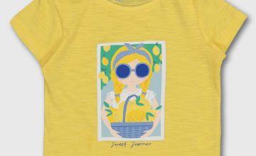 Yellow Girl Graphic T-Shirt