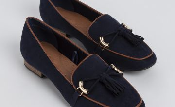 Sole Comfort Navy Tassel Loafers