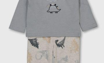 Grey Dinosaur Pjyamas