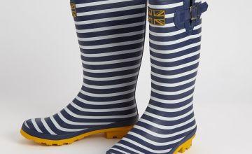 Navy Stripe Wellies