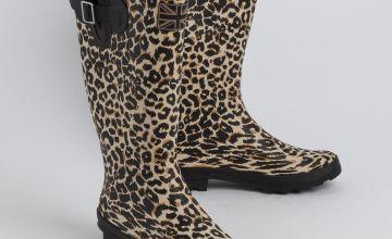 Leopard Print Wellies