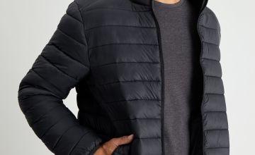 Black Eco Thermolite Padded Shower Resistant Jacket