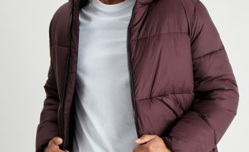 Burgundy Eco Thermolite Shower Resistant Hooded Jacket