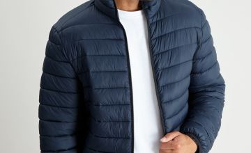Navy Eco Thermolite Padded Shower Resistant Jacket