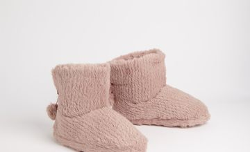 Pink Sparkle Slipper Boots