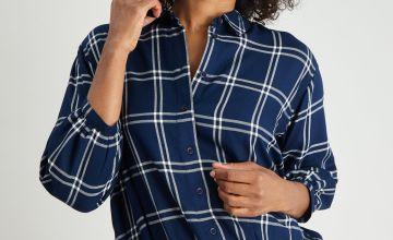 Check Shirt With Bubble Hem