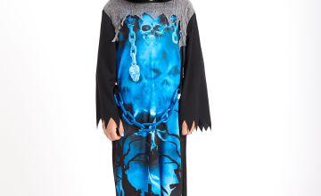 Halloween Blue Grim Reaper Costume