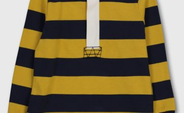 Yellow & Navy Stripe Rugby Shirt