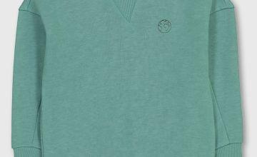 Turquoise Crew Neck Sweatshirt