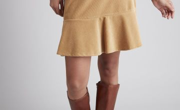 Light Tan Corduroy Flippy Skirt