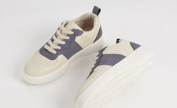 Colourblock Lace Up Casual Trainers