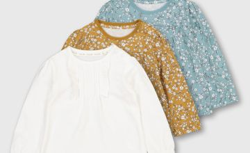 Floral Ruffle Long Sleeve Top 3 Pack