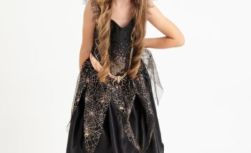 Halloween Gold Glitter Spider Fairy Costume
