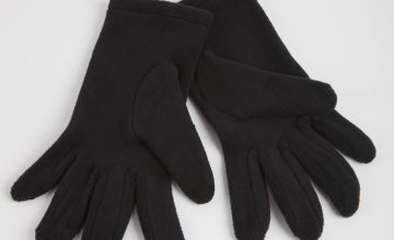 Black Fleece Gloves - One Size