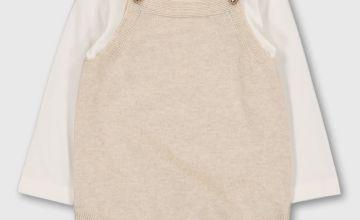 Cream & White Knitted Bodysuit