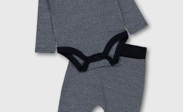 Navy Marl Bodysuit & Leggings