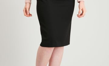PETITE Black Smart Skirt