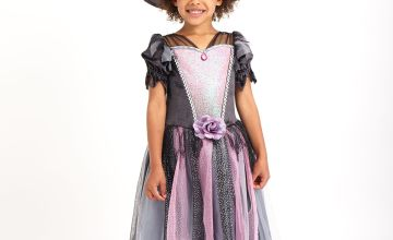 Halloween Pink & Grey Witch Costume
