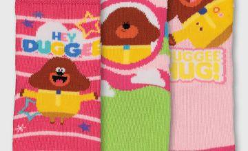 Hey Duggee Pink Socks 3 Pack