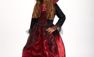 Halloween Red & Black Vampiress Costume