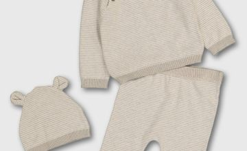 Organic Cotton Jumper, Trousers & Hat Set