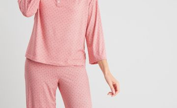 Geometric Print Cropped Pyjamas