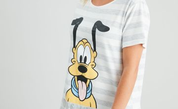 Disney Pluto Grey Stripe Nightdress
