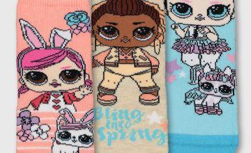L.O.L. Surprise! Pet Ankle Sock 3 Pack