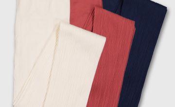 Ribbed Knit Tights 3 Pack