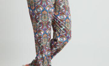 Paisley Print Cuff Ankle Pyjama Bottoms
