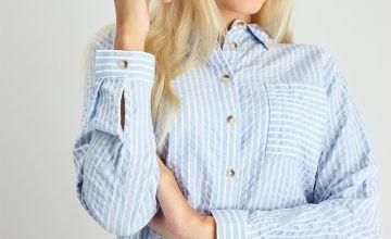 Blue Seersucker Stripe Shirt