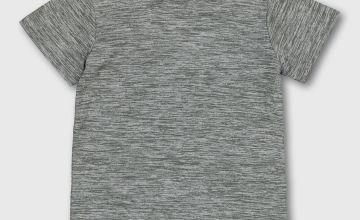 Grey Marl Active Top