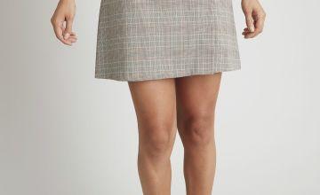 Mono Check A-Line Skirt