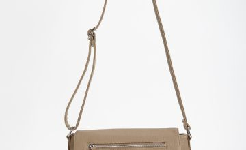 Stone Faux Leather Cross Body Bag - One Size