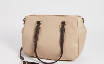 Nude Faux Leather Bag - One Size