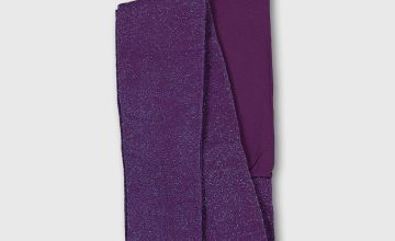 Halloween Purple Sparkle Opaque Tights