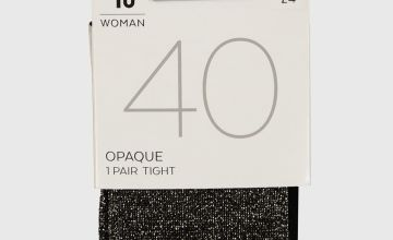 Black Sparkle 40 Denier Tights