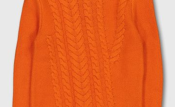 Graduate Fashion Week Orange Cable Knit Jumper
