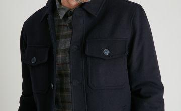 Navy Wool Rich Chore Jacket