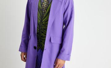 Halloween DC Comics The Joker Purple Costume & Mask